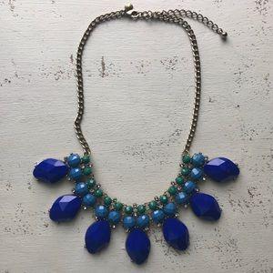 J Crew necklace blue